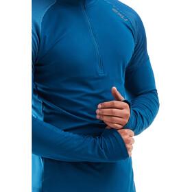 2XU GHST Longsleeve Shirt met 1/2 rits Heren, poseidon/ultra aqua
